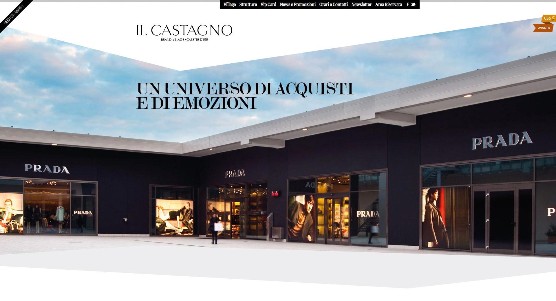 IL CASTAGNO Brand Village Website Screenshot