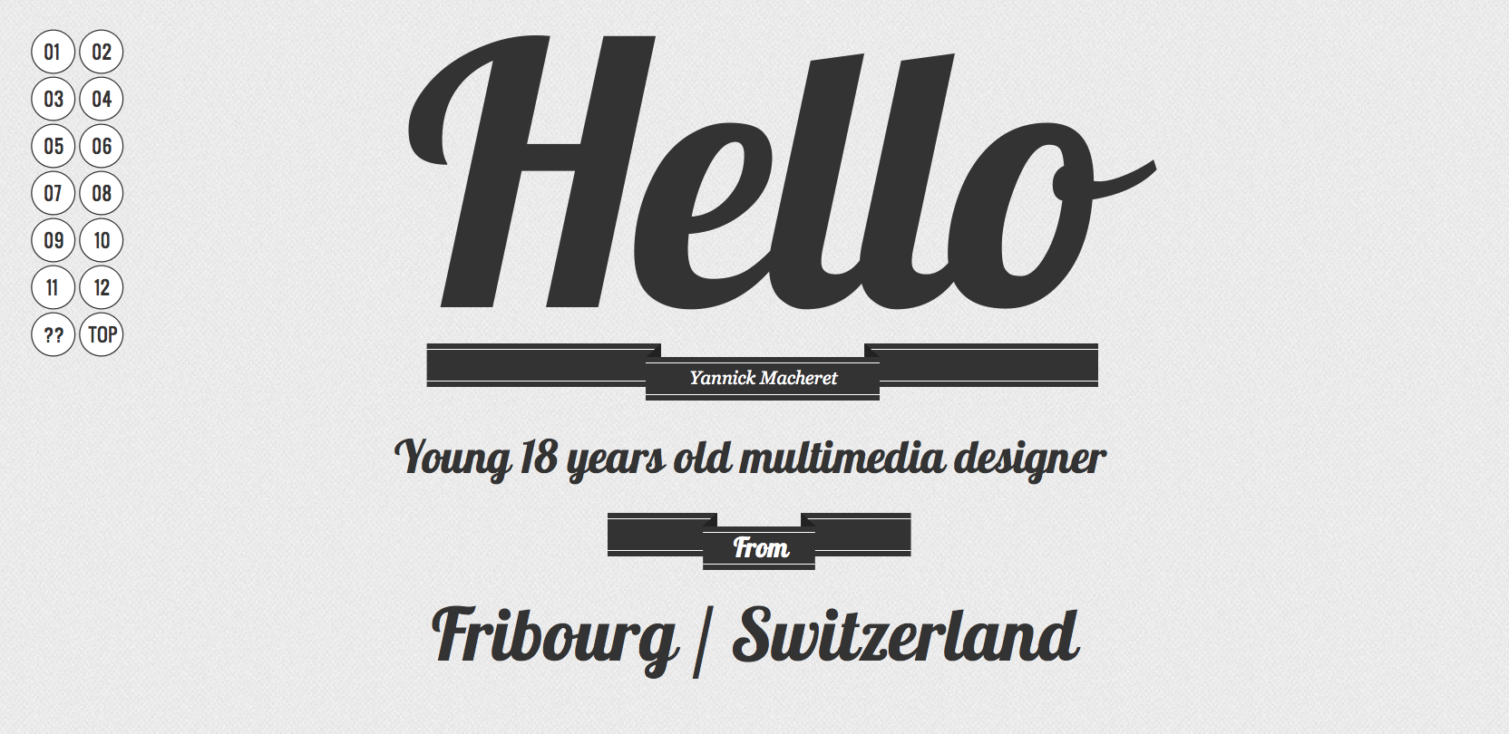 Yannick Macheret Website Screenshot