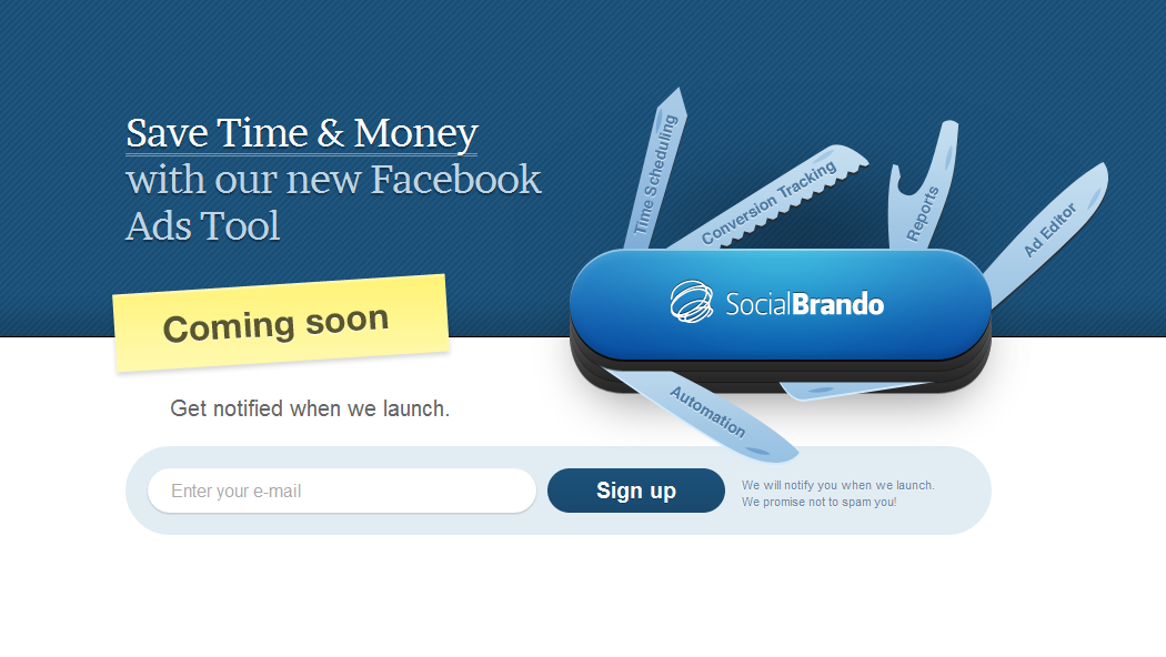 SocialBrando Website Screenshot