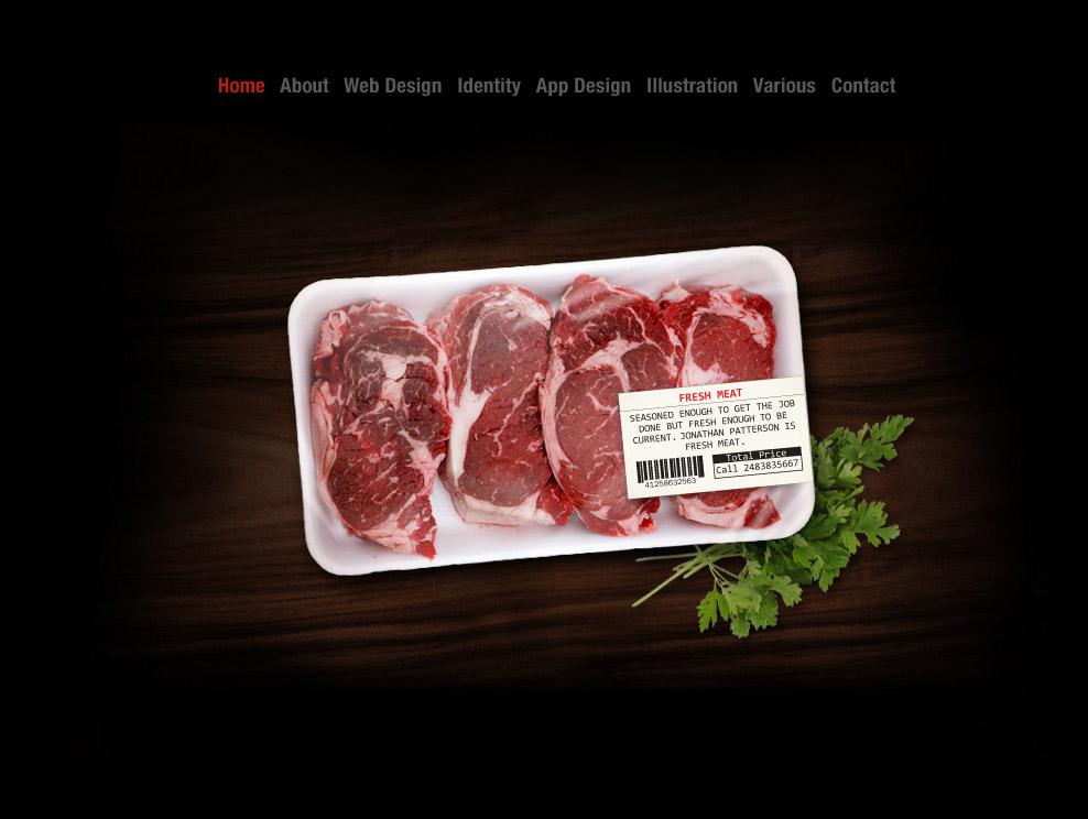 Fresh Meat Website Screenshot