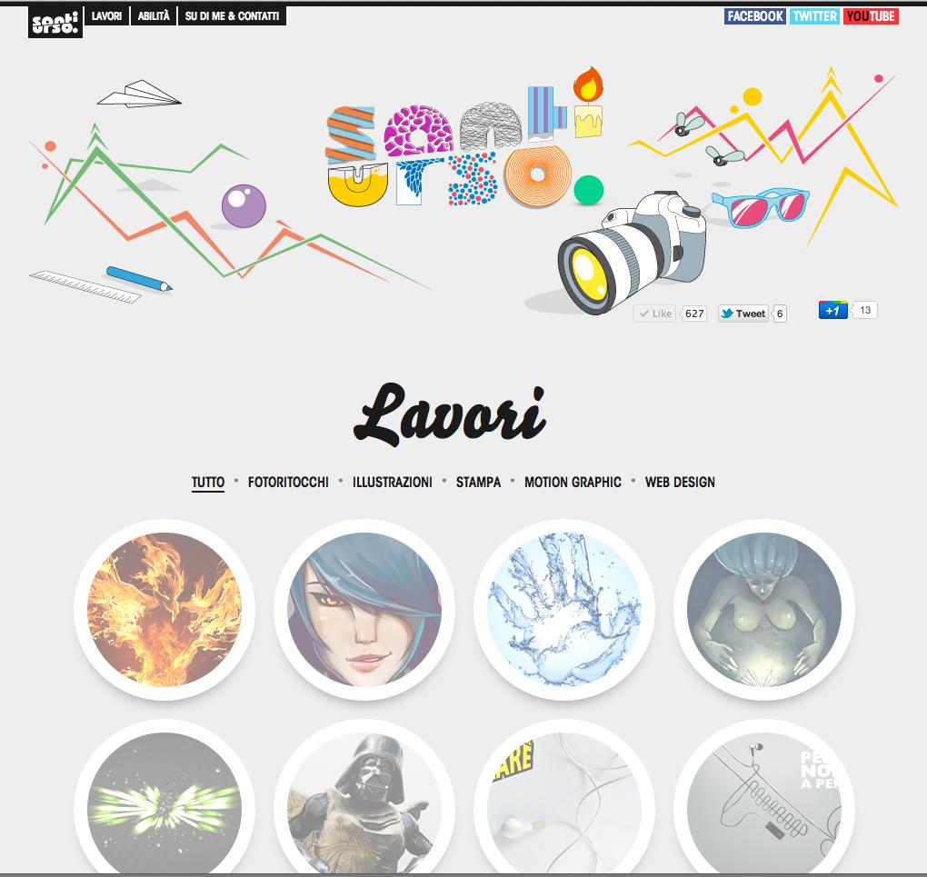 Santi Urso Website Screenshot
