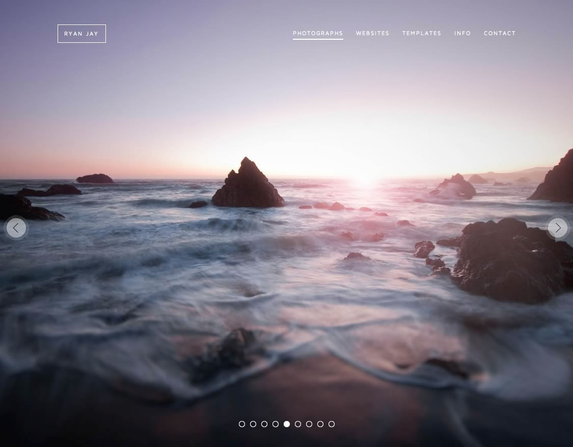 Ryan Jay – Photographer & Web Designer Website Screenshot