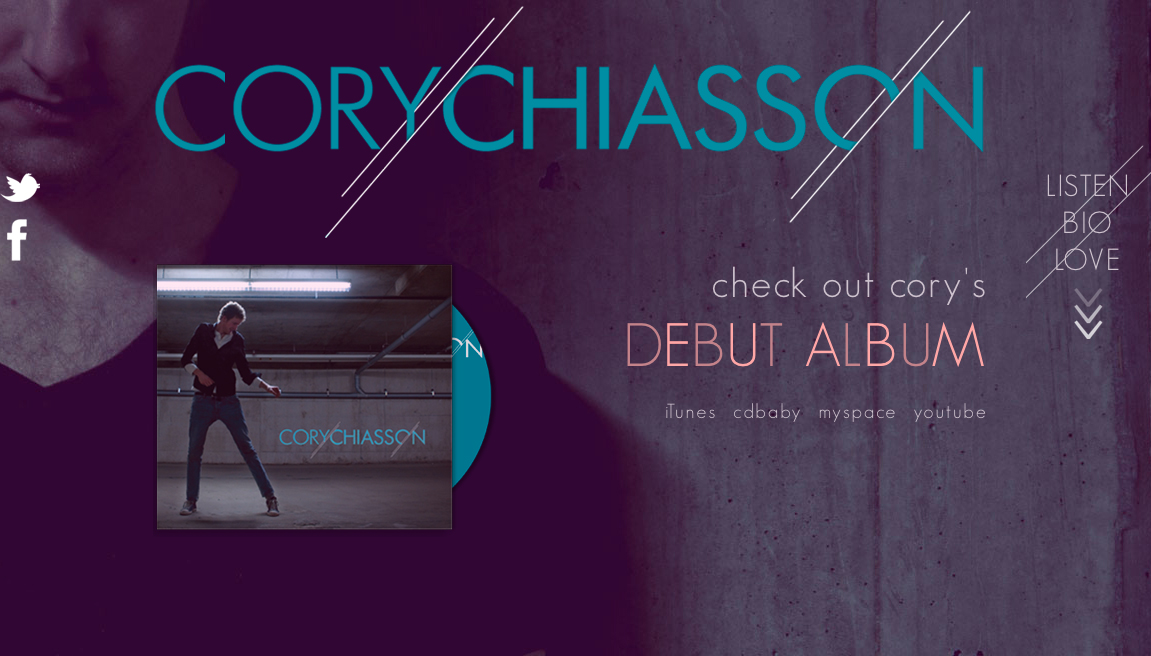 Cory Chiasson Website Screenshot