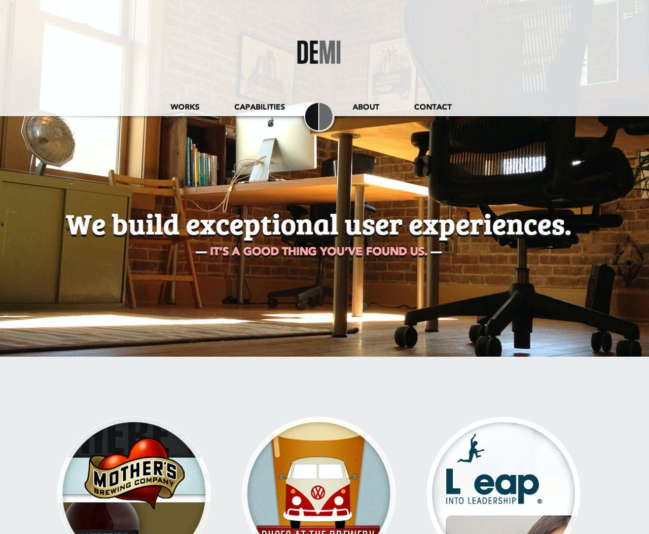 Demi Creative Website Screenshot