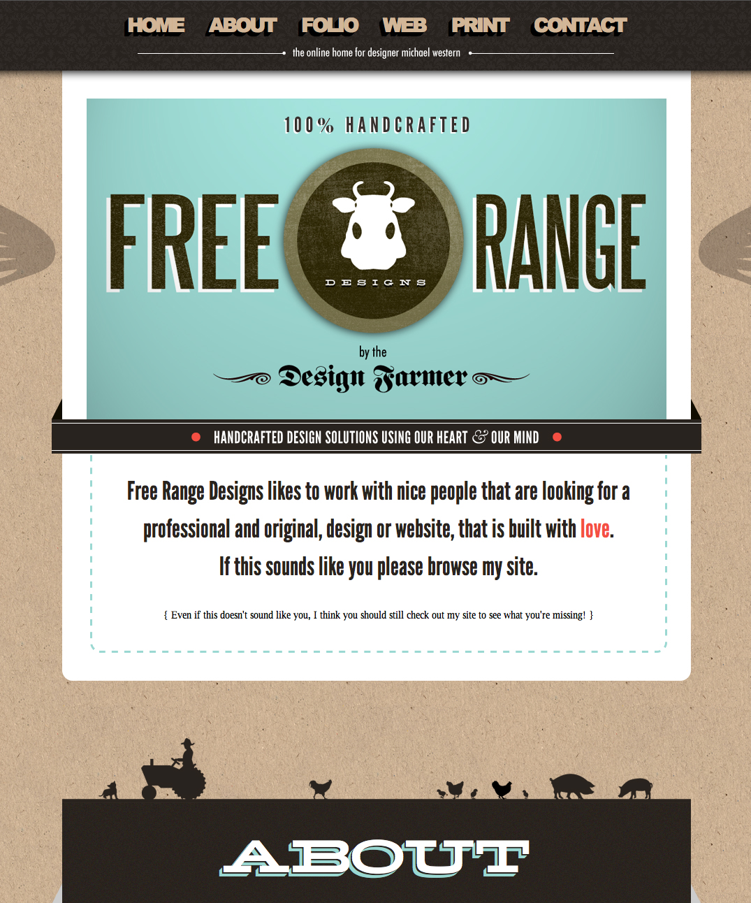 Free Range Designs Website Screenshot