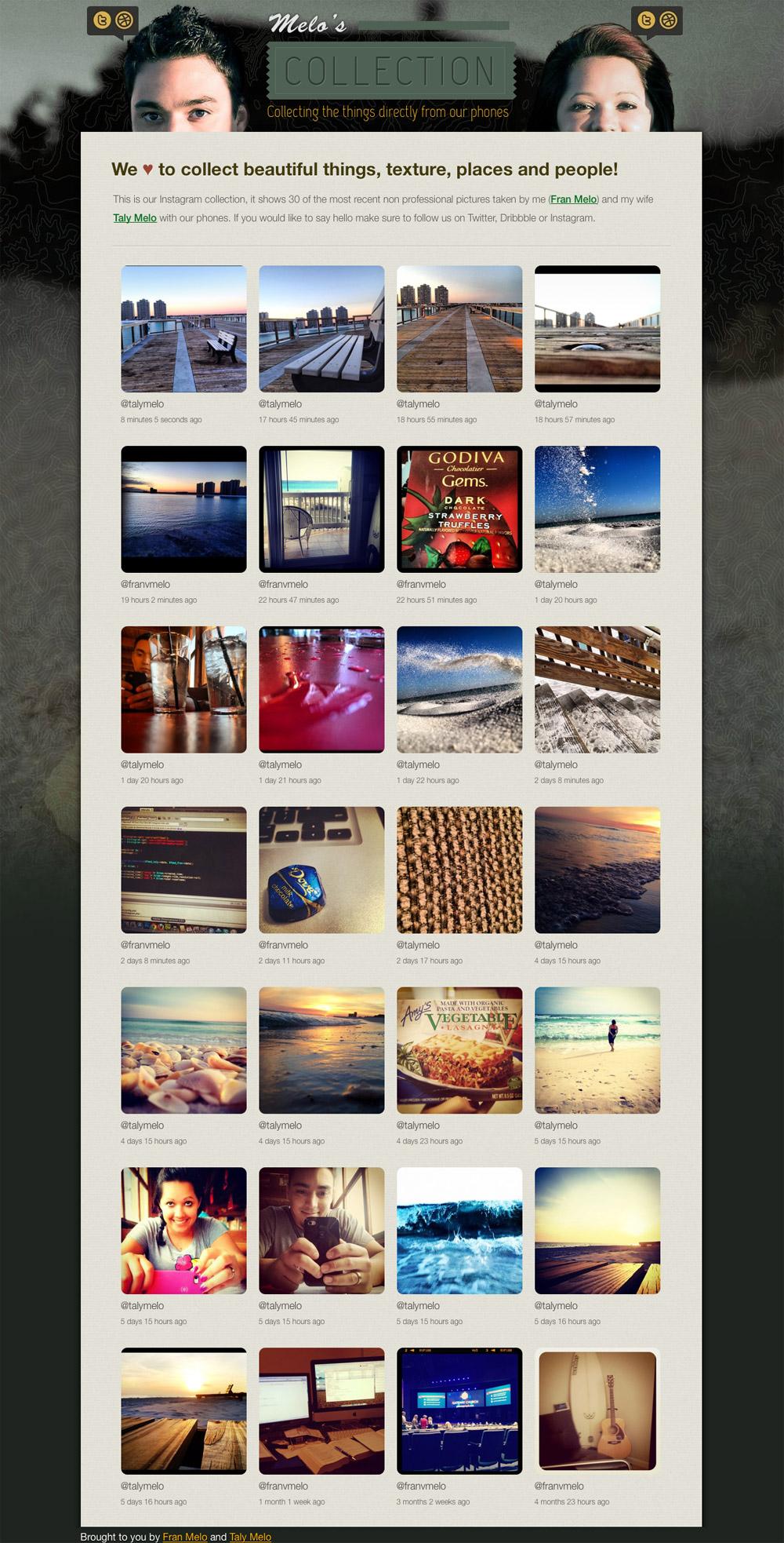 Melo Collection Website Screenshot