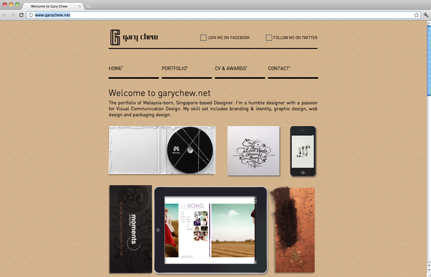 Gary Chew Website Screenshot