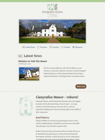 Llanyrafon Manor – Rural Heritage Centre Thumbnail Preview