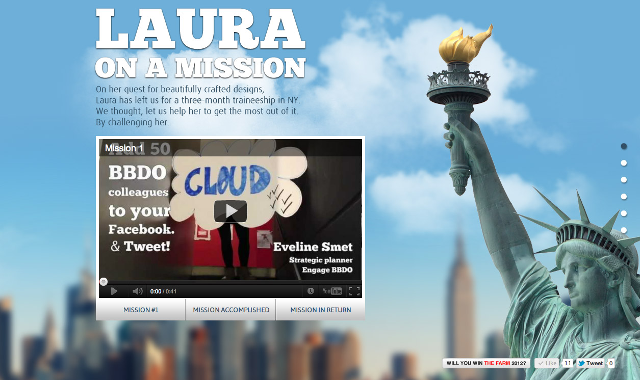 Laura On A Mission Website Screenshot