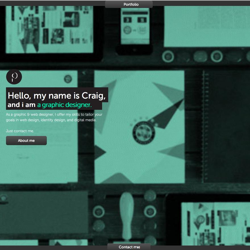 Craig Pinto Design Website Screenshot