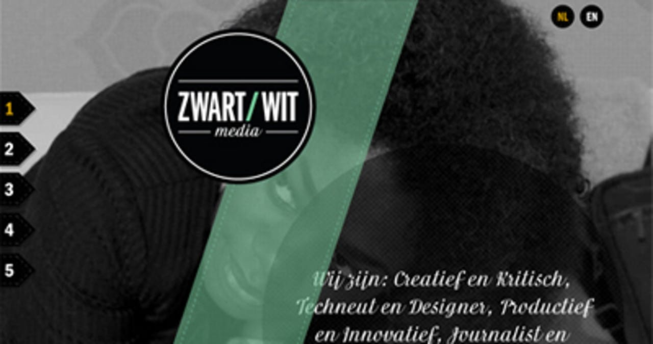 Zwart/Wit Media Website Screenshot