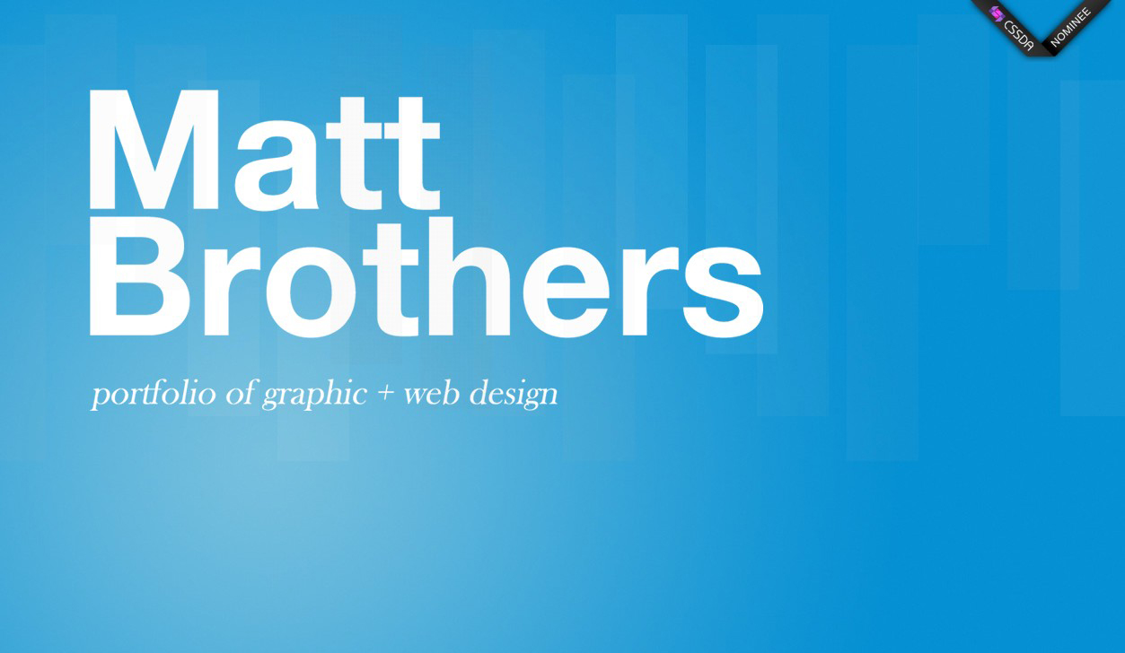 Matt Brothers Website Screenshot