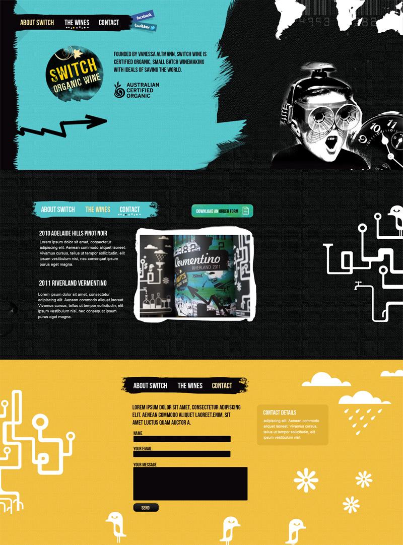 Switch Wine Website Screenshot