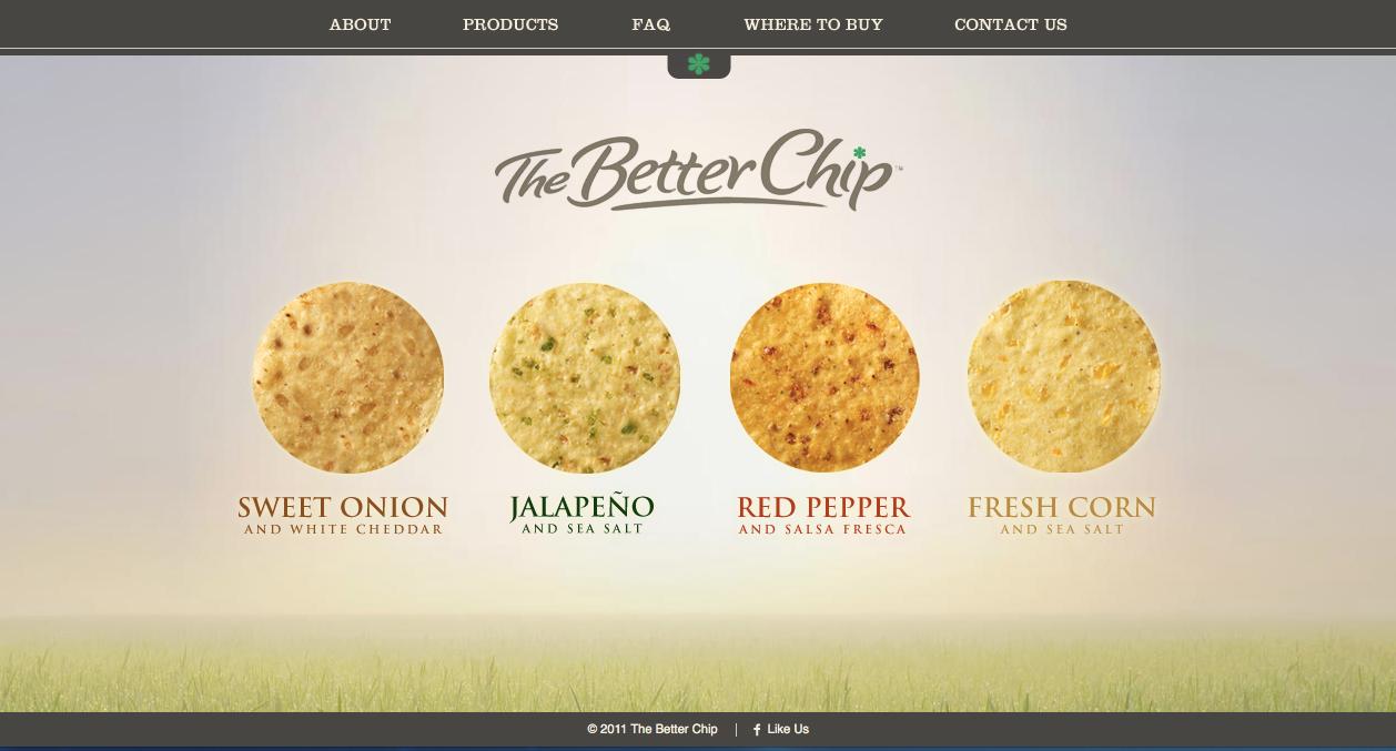 The Better Chip Website Screenshot