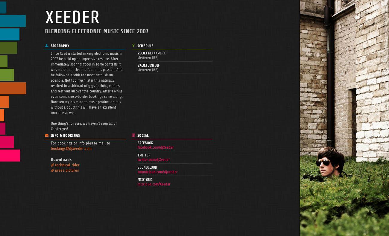 Xeeder Website Screenshot