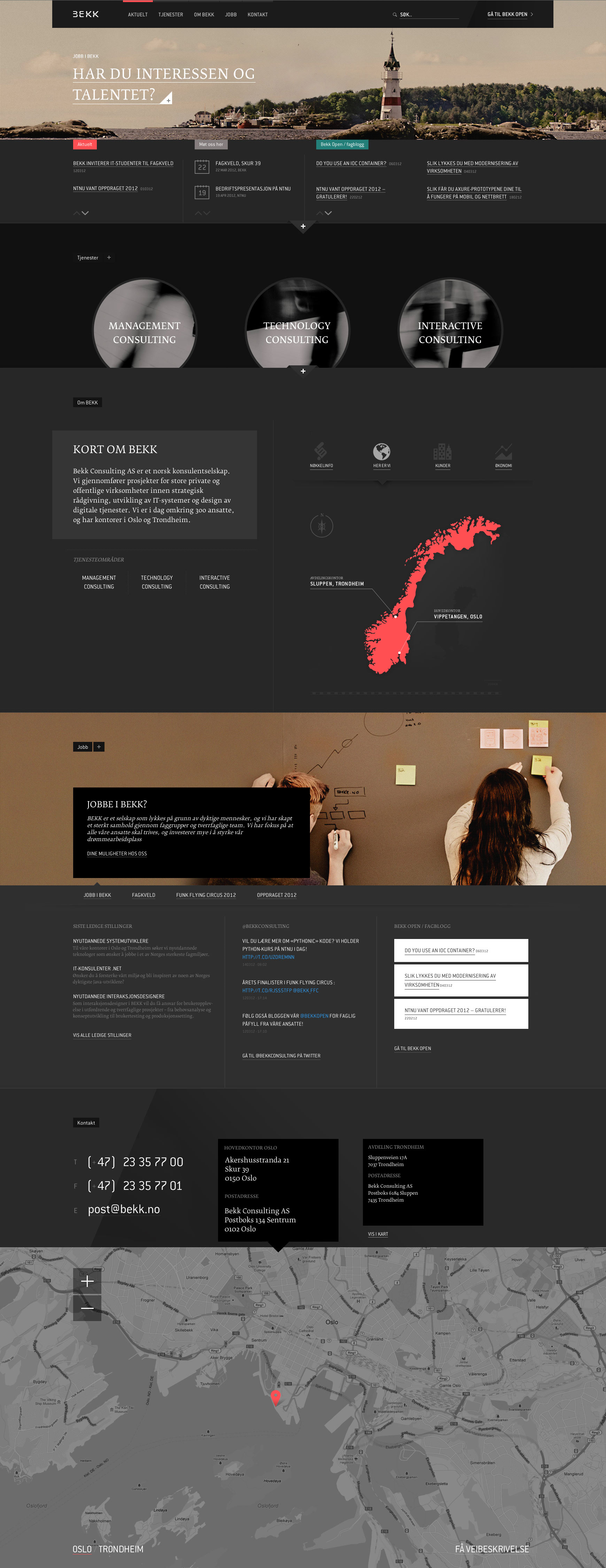 Bekk Consulting AS Website Screenshot