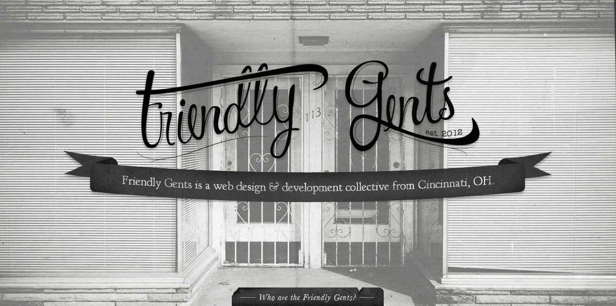 Friendly Gents Website Screenshot