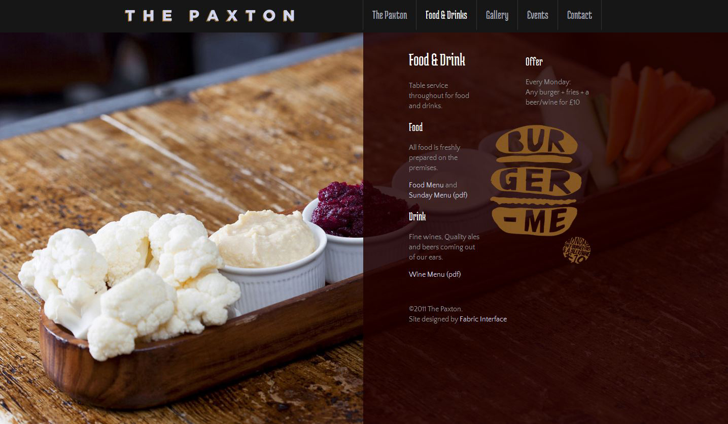 The Paxton Website Screenshot