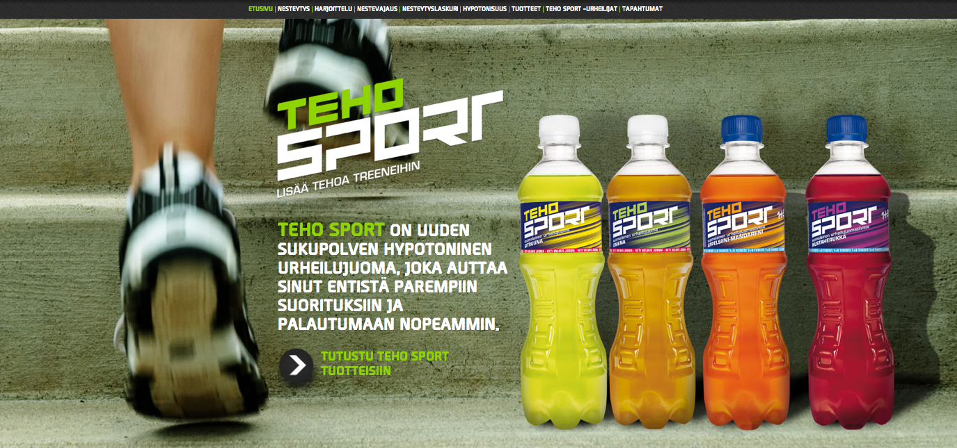TEHO Sport Website Screenshot