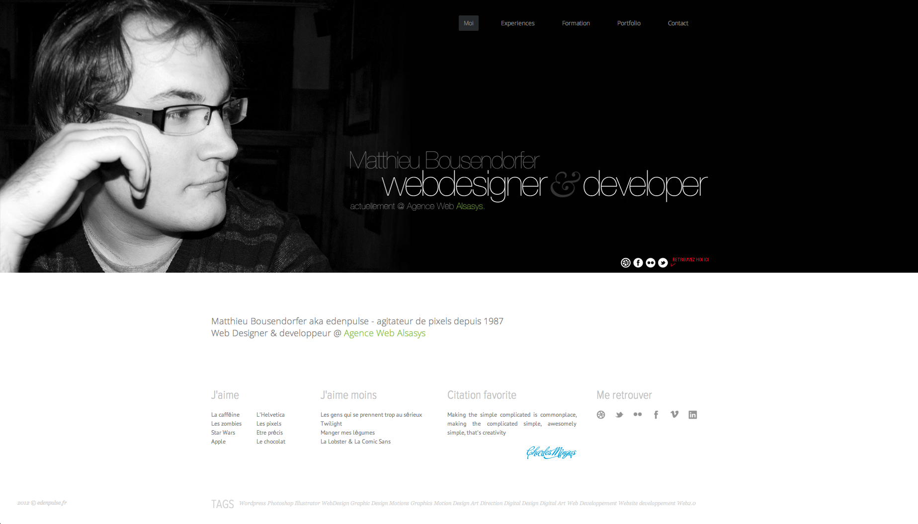 Matthieu Bousendorfer Website Screenshot