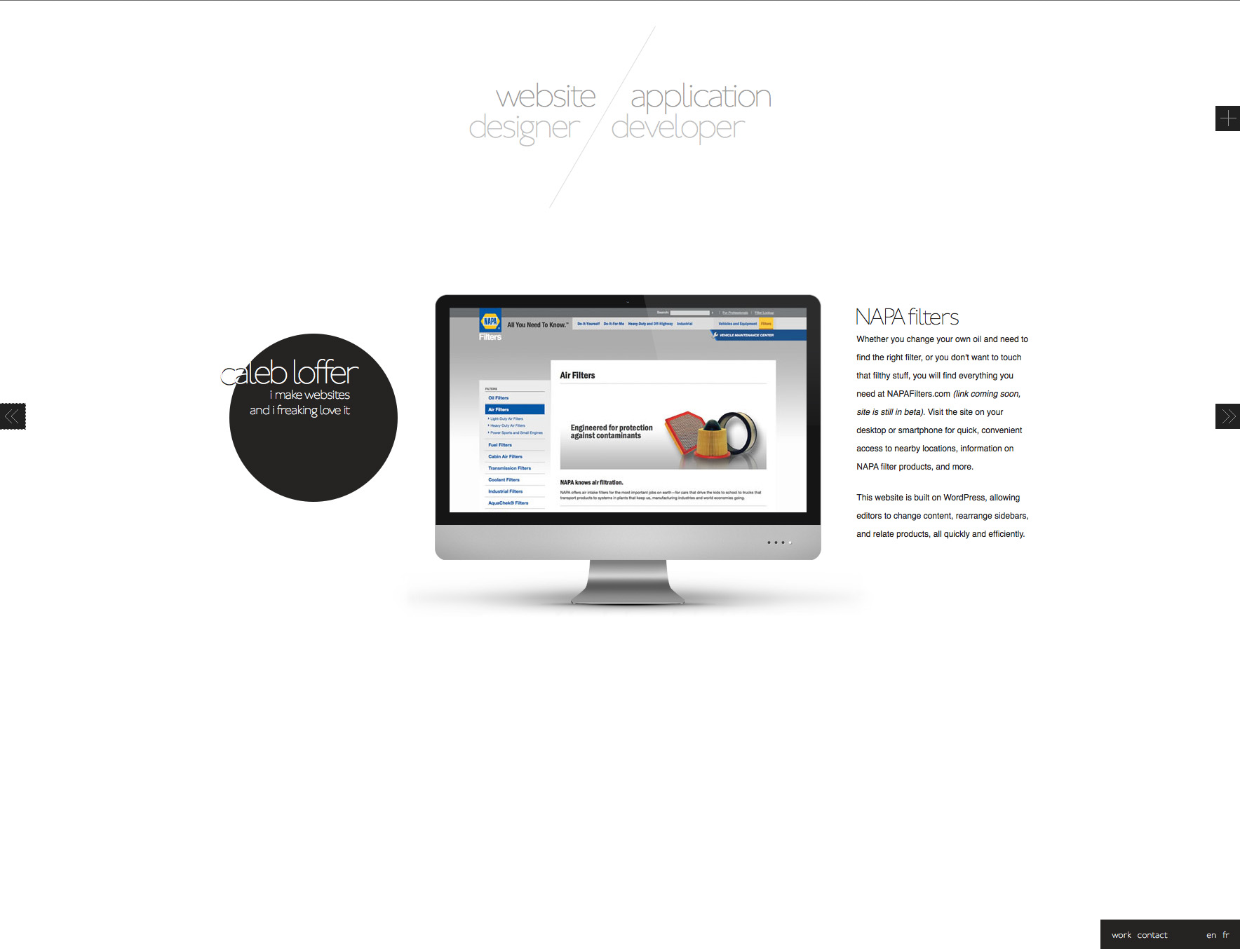 Caleb Loffer Website Screenshot