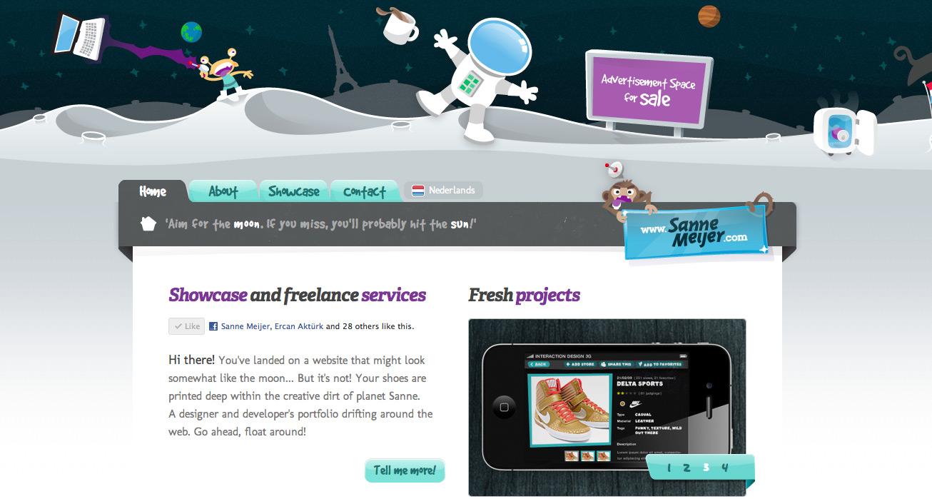 Sanne Meijer Website Screenshot