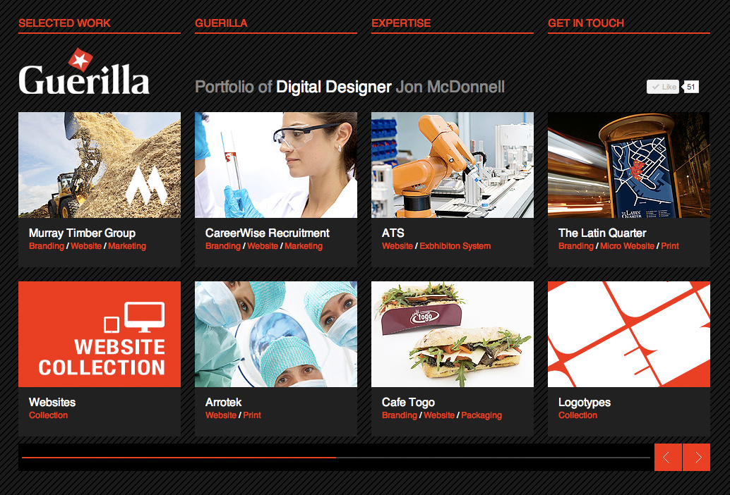Guerilla Website Screenshot