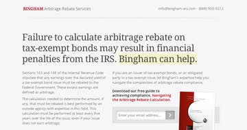Bingham Arbitrage Rebate Thumbnail Preview