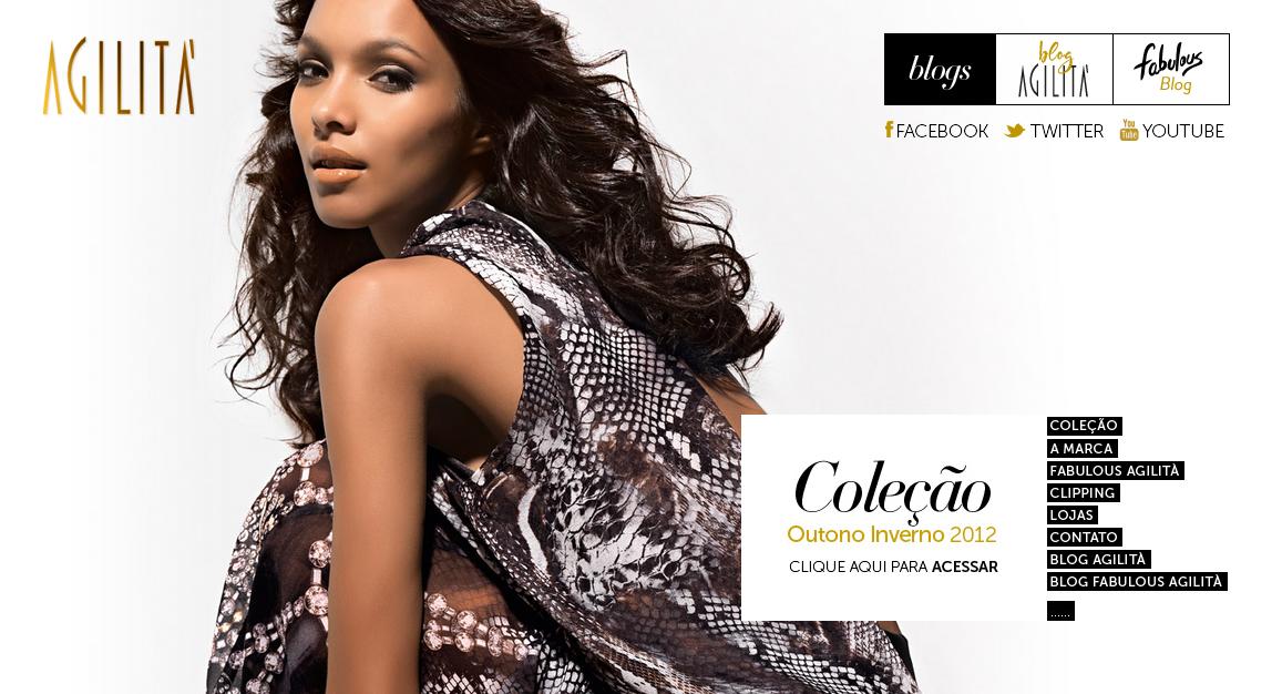 Agilità Fashion Inverno 2012 Website Screenshot