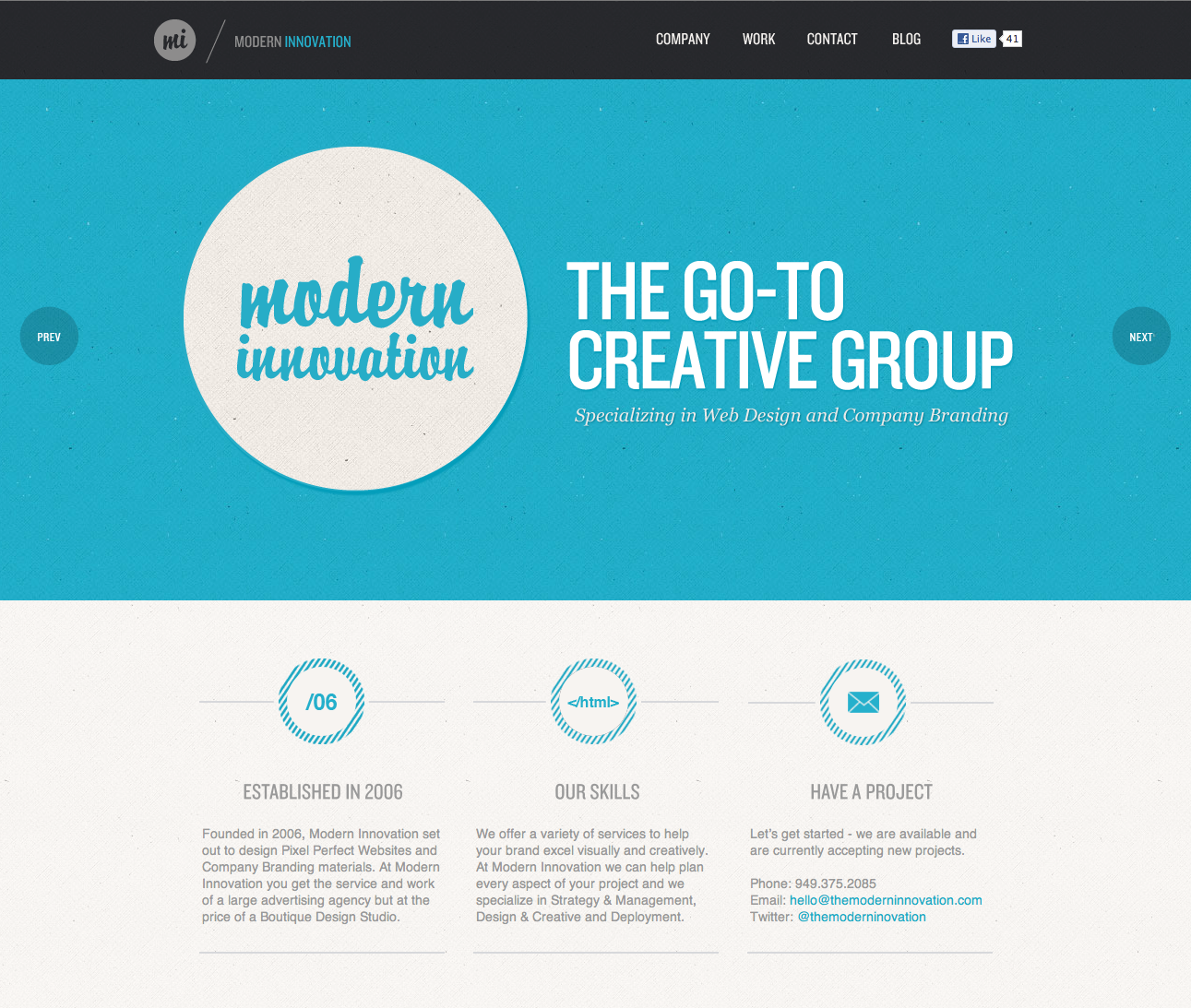 Modern Innovation Website Screenshot