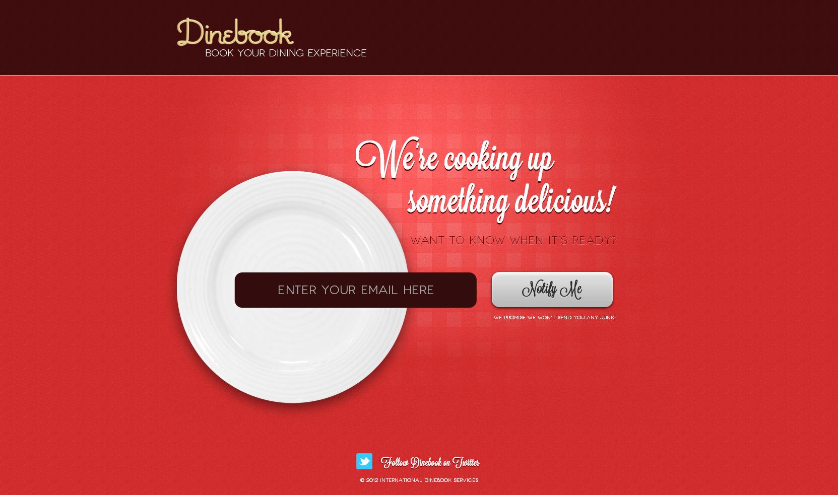 Dinebook Website Screenshot