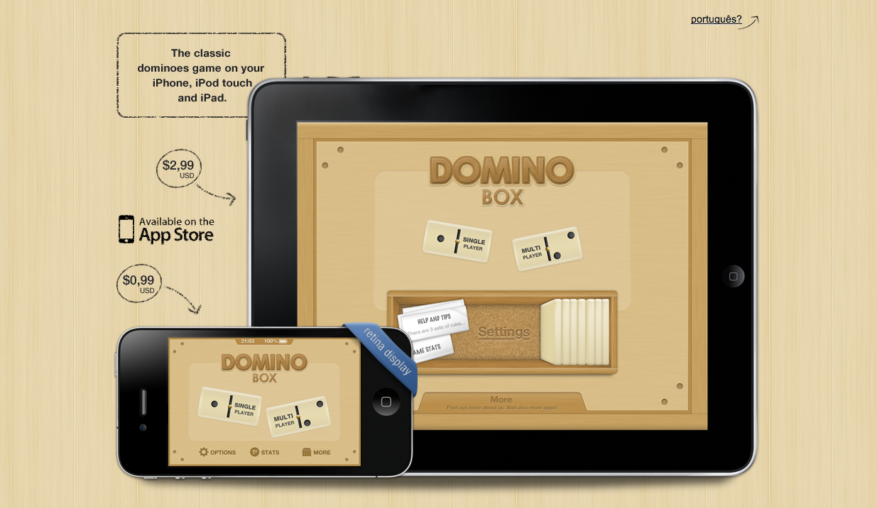 Domino Box Website Screenshot