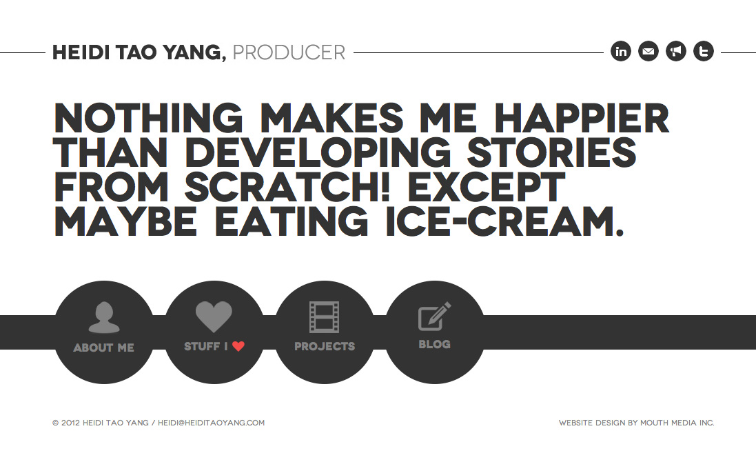 Heidi Tao Yang Website Screenshot