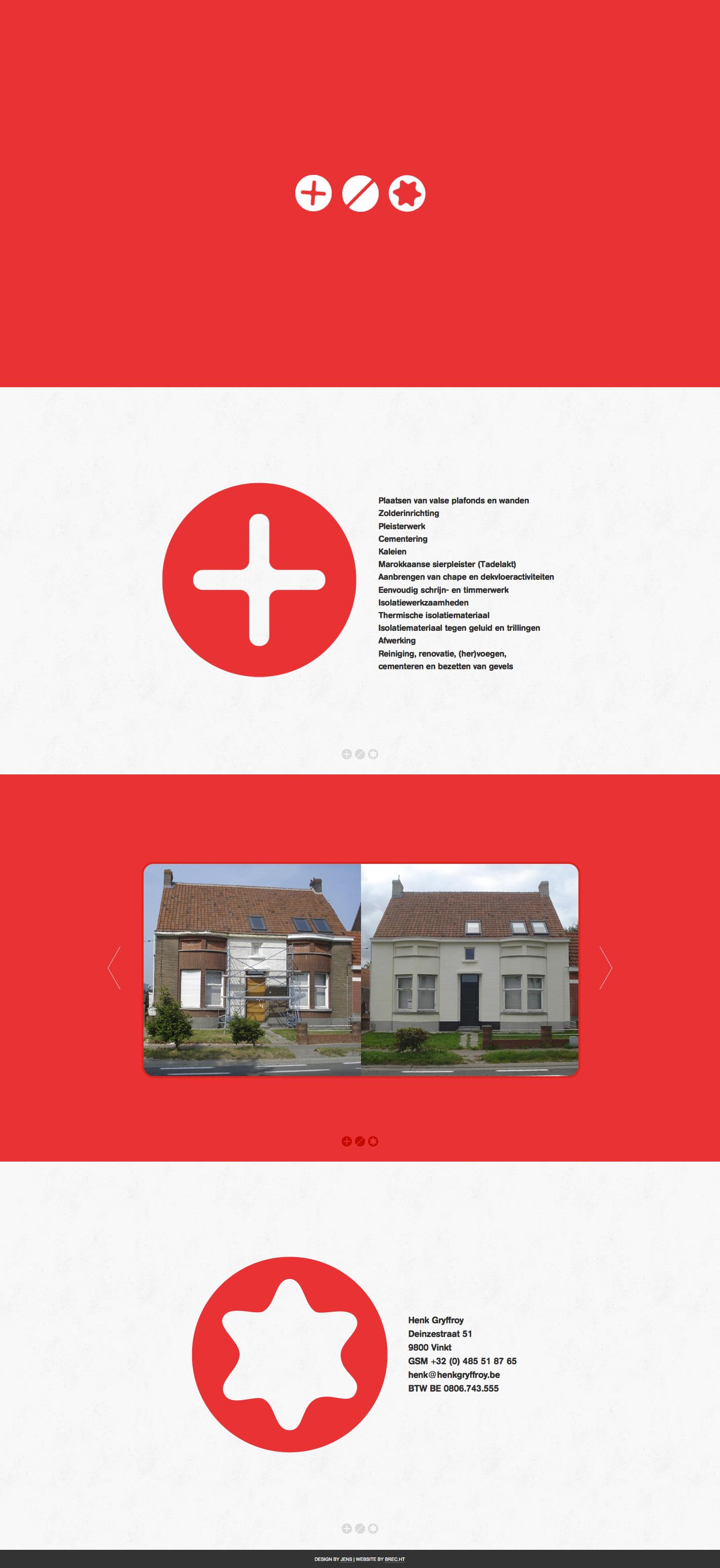 Henk Gryffroy Website Screenshot