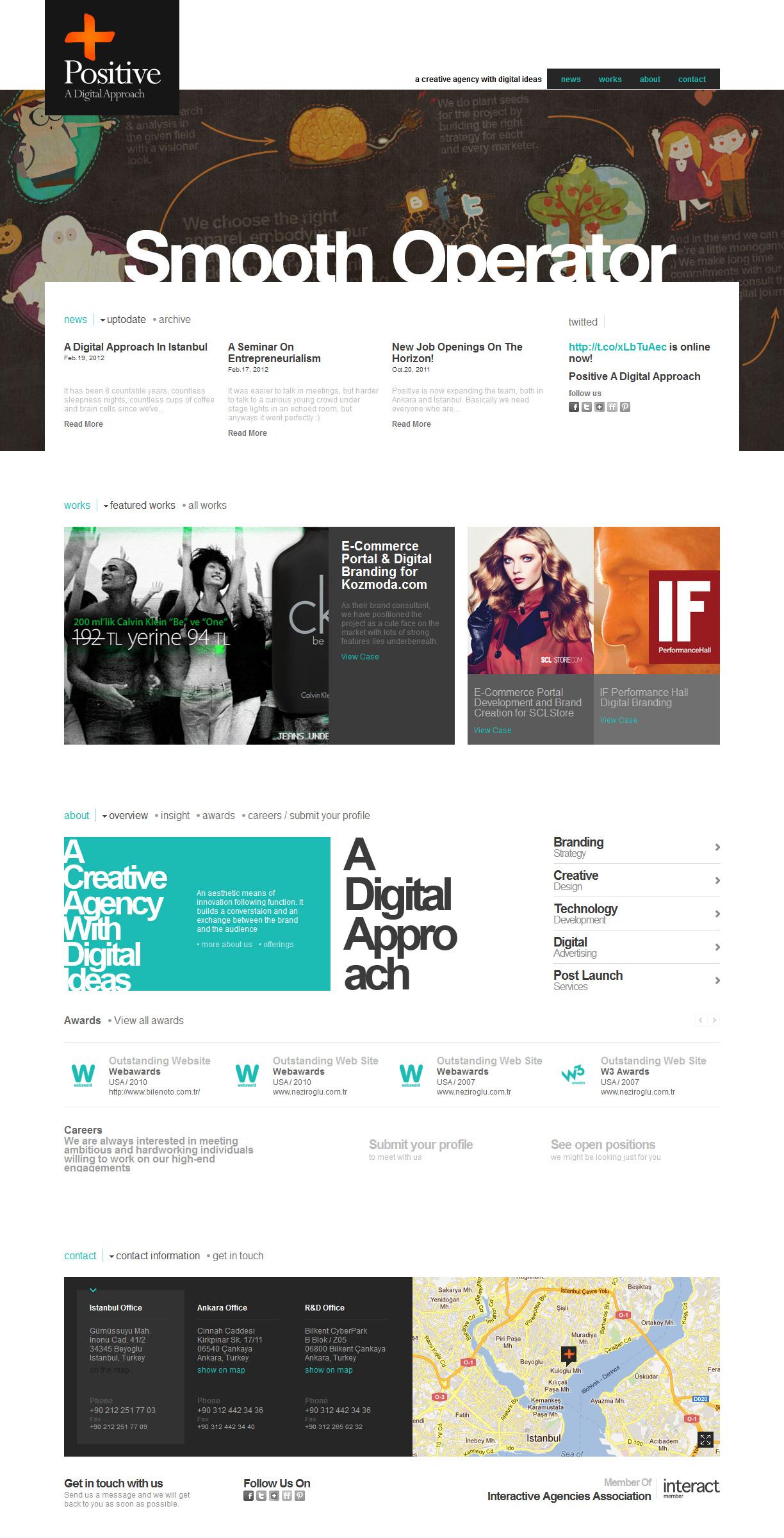 Positive – A Digital Approach Website Screenshot