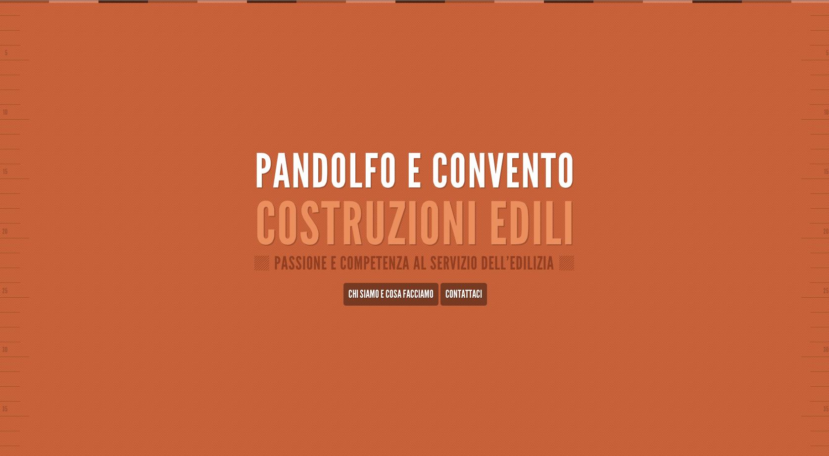 Pandolfo Costruzioni Website Screenshot