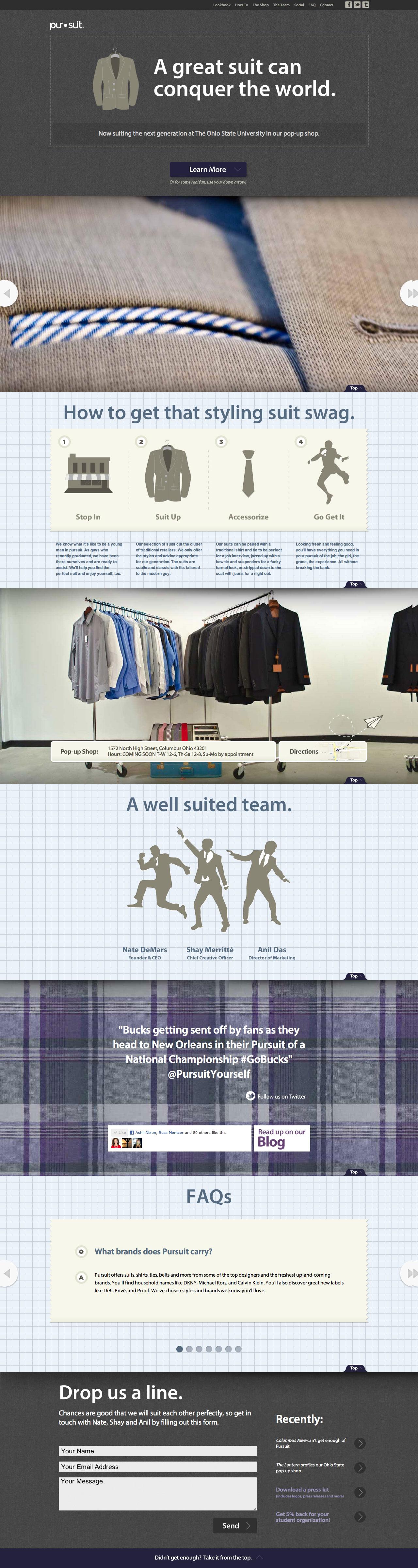 Pursuit Yourself Website Screenshot