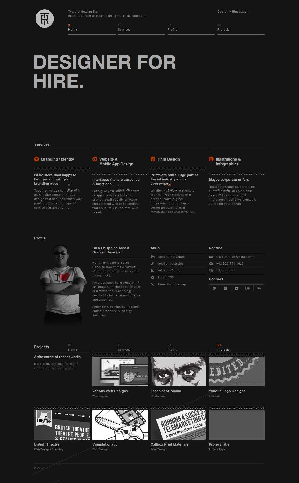 Takie Rosales Website Screenshot