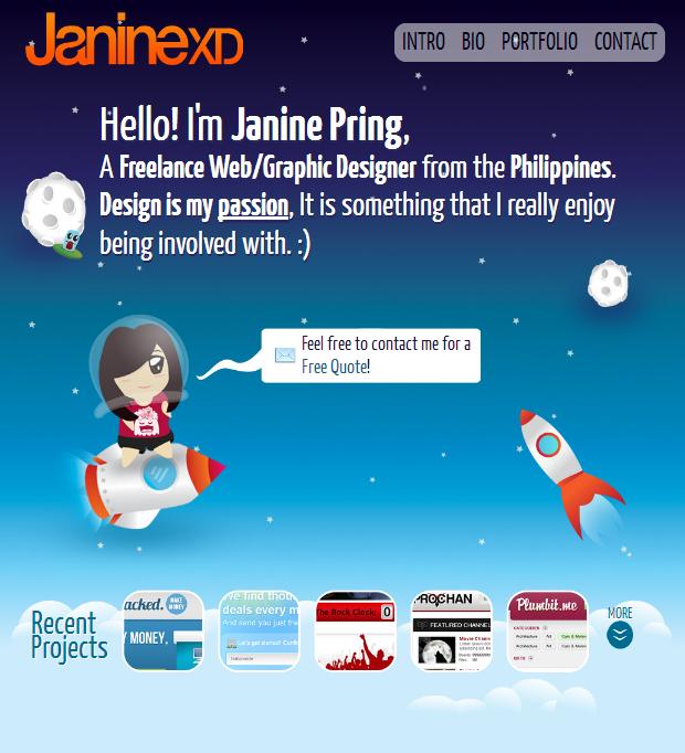 JanineXD Website Screenshot