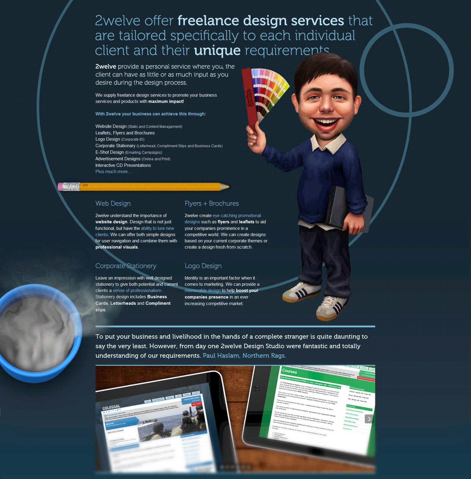 2welve Website Screenshot