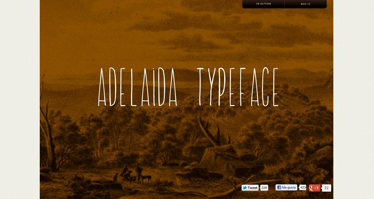 Adelaida Font Website Screenshot