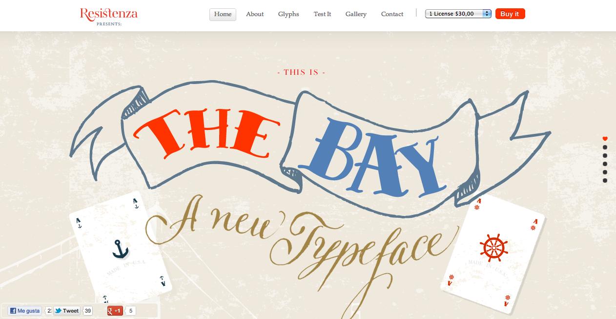 The Bay Font Website Screenshot