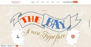 The Bay Font Thumbnail Preview