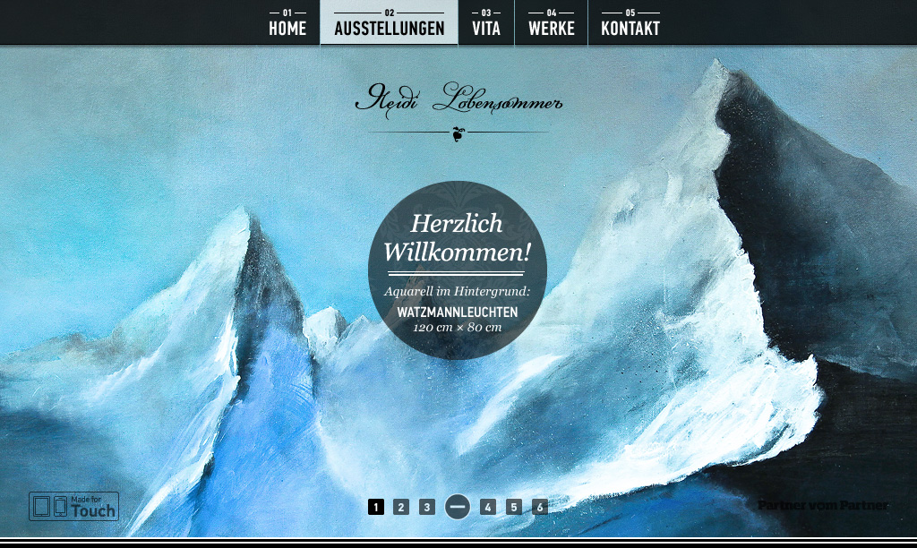 Heidi Lobensommer Website Screenshot