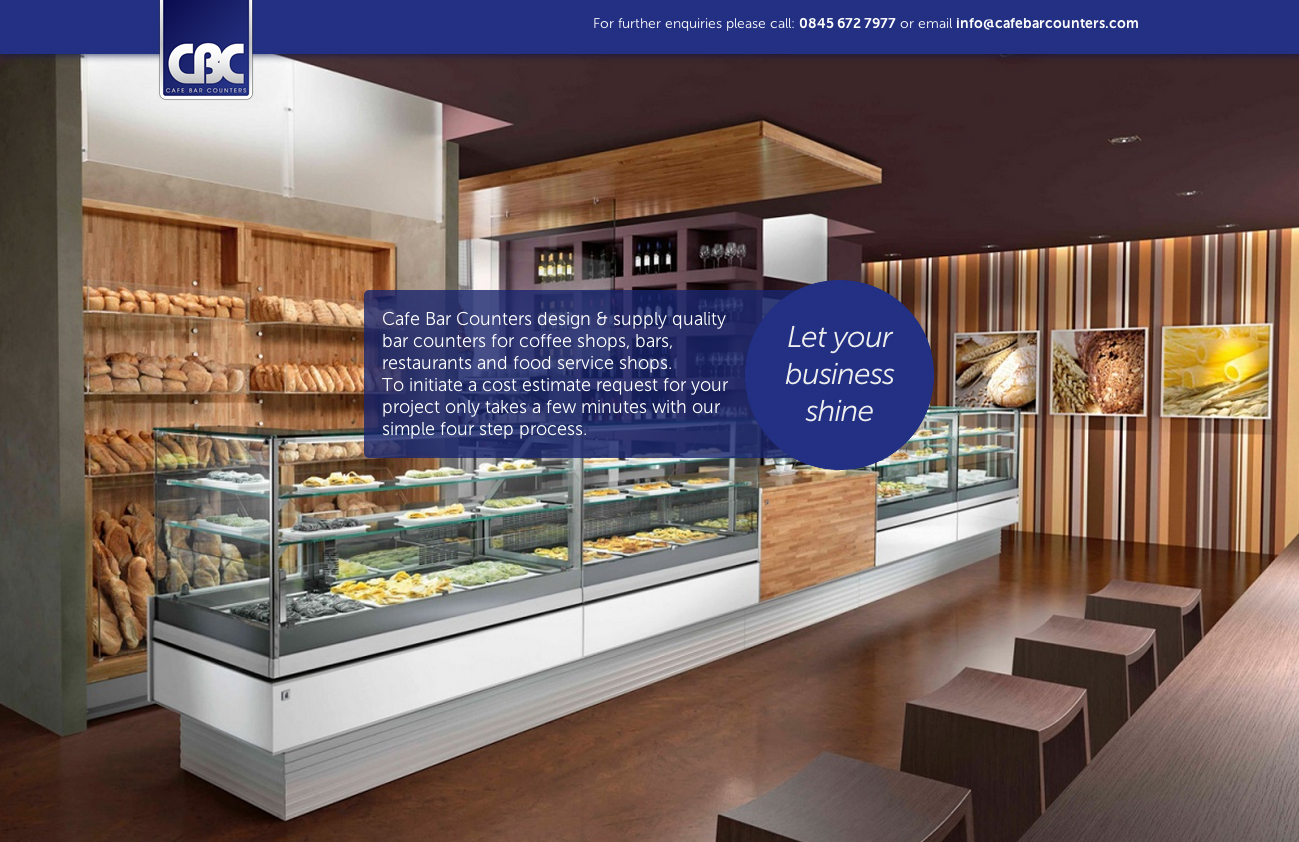Cafe Bar Counters Website Screenshot