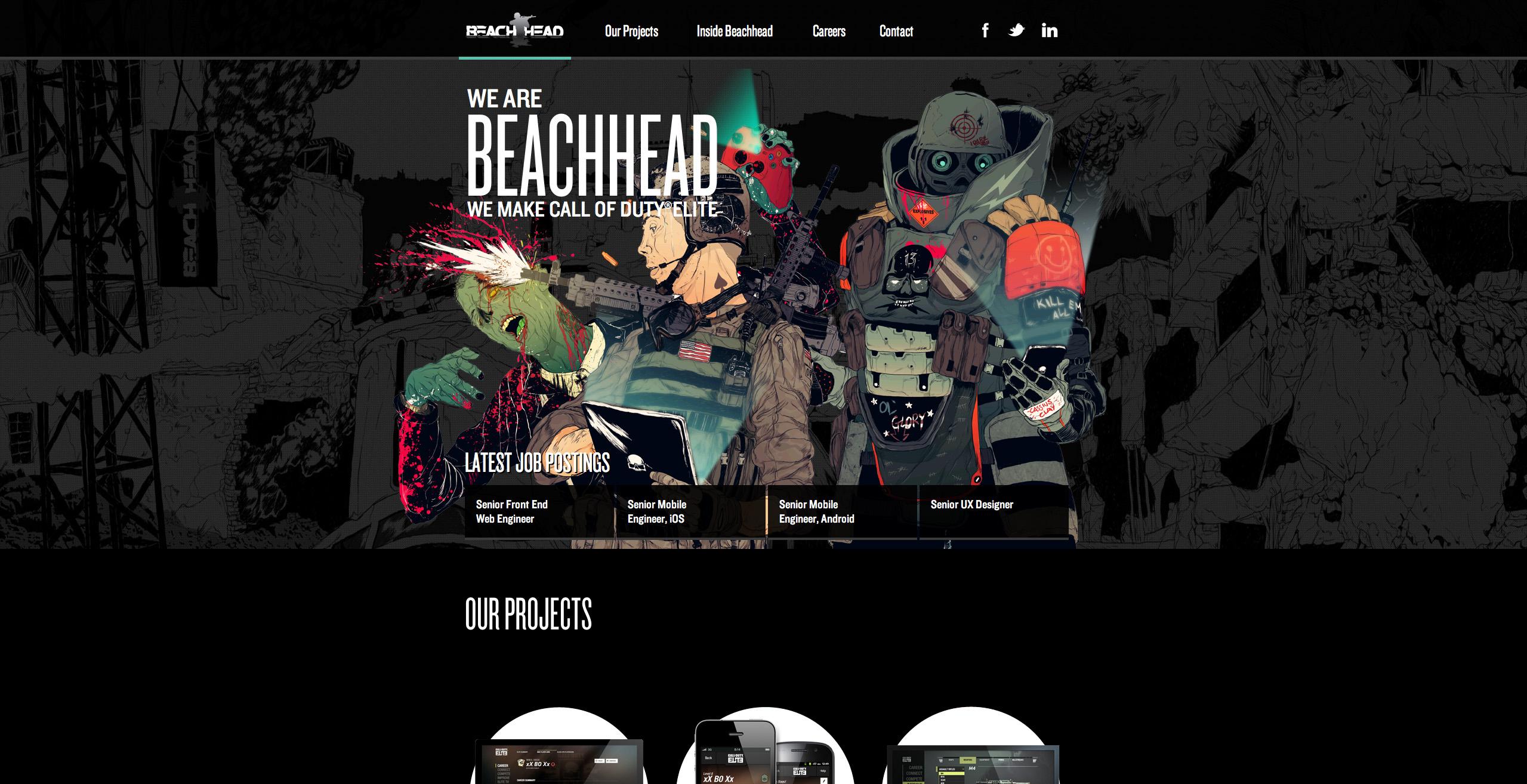 Beachhead Studio Website Screenshot