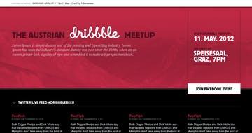 Austrian Dribbble Meetup Thumbnail Preview