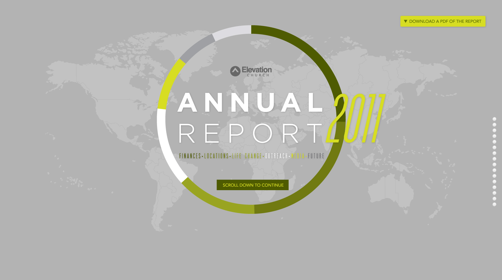 elevation church annual report most loved website award