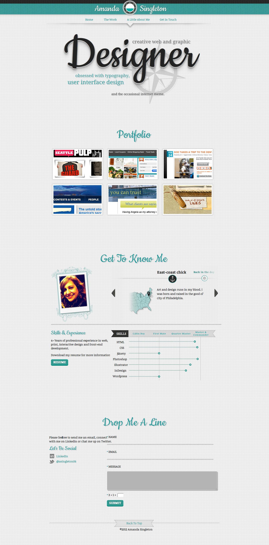 Amanda Singleton Website Screenshot
