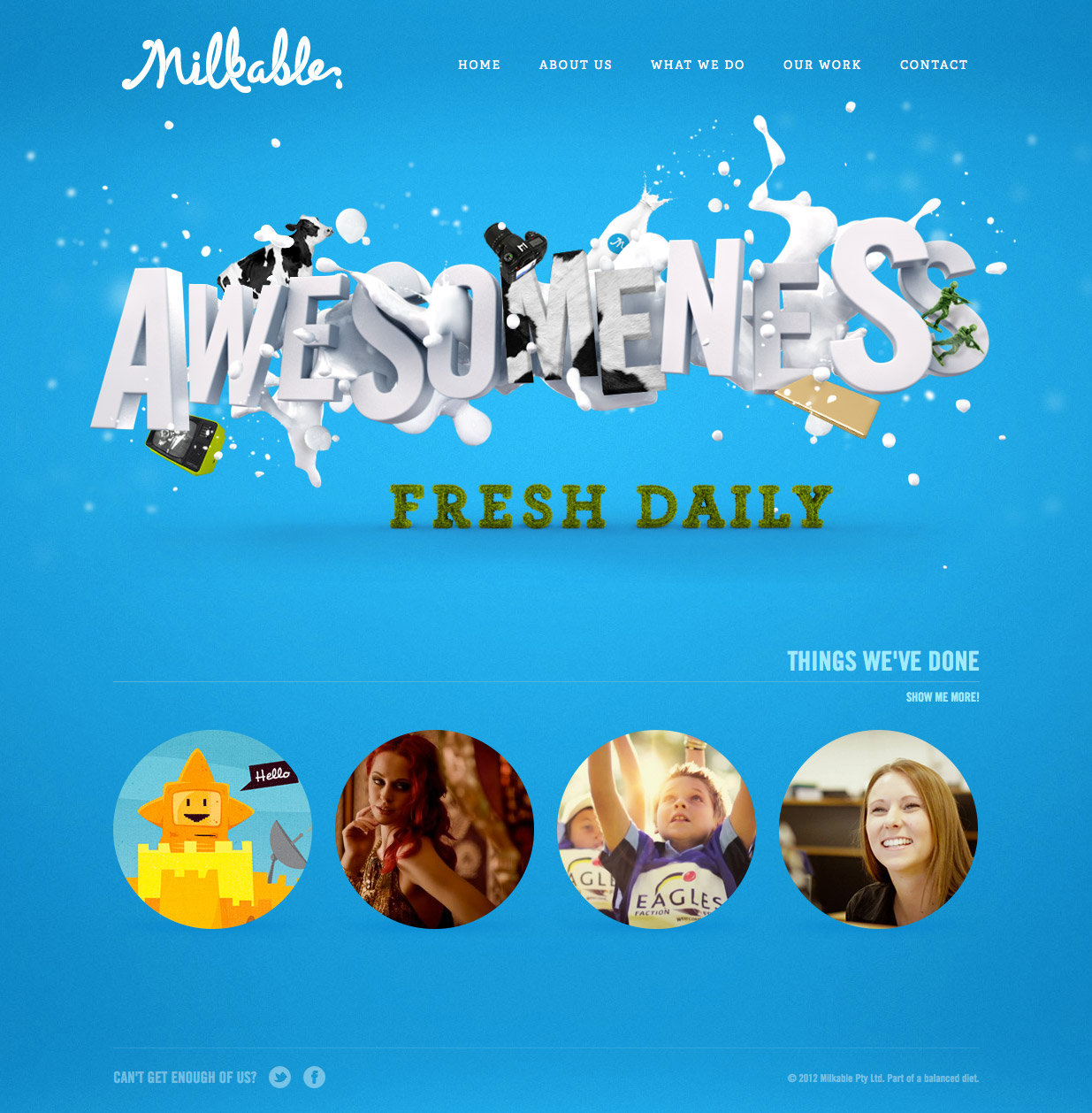Milkable Website Screenshot